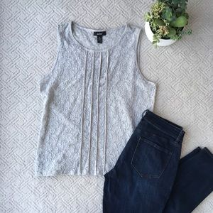 Alfani Gray Lace Tank Top, X- Large